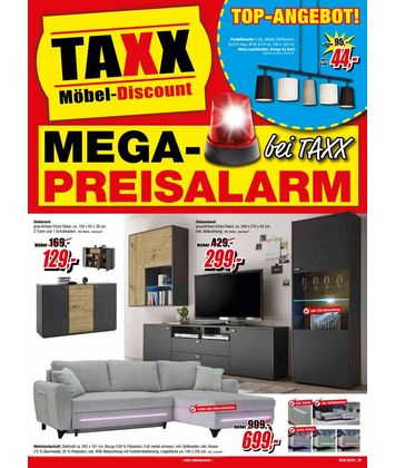 TAXX Möbeldiscount: Preisalarm