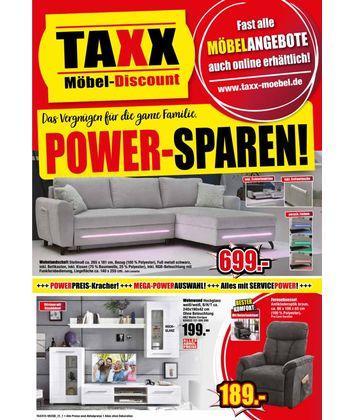 TAXX Möbeldiscount: Power Sparen