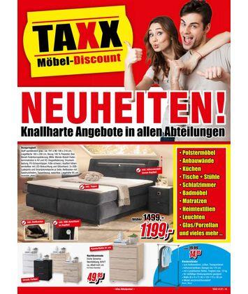 TAXX Möbeldiscount: Neuheiten